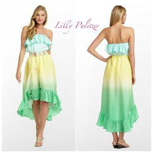 🆕Lilly Pulitzer Caldwell Strapless High Low Dress